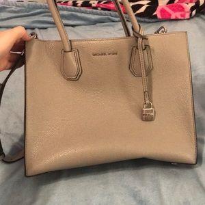 Michael Kors light grey purse!